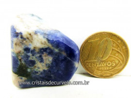 Sodalita Azul Pedra Rolado Boa Qualidade Ideal Montagem de Artesanato Cod 13.7