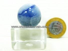 01 Mini Bola Aventurina Azul Esfera Pedra Natural e Pequena Cod 18.5