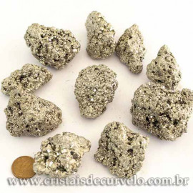 10 Pirita Peruana 45mm Pedra Bruta Natural P/ Orgonite ATACADO