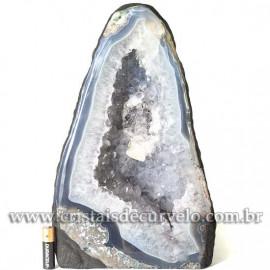 Capela de Ametista Pedra Natural Medio Ótimo Lilás Cod 123115