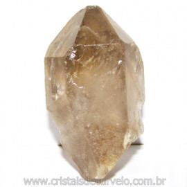 Ponta Cristal Fume Bruto Gerador Sextavado Natural Cod 114876