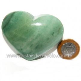 Coração Quartzo Verde Natural Comum Qualidade Cod 119823