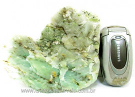 Pirofilita Verde Com Dendrita  Pedra de Garimpo Bruto Ideal Colecionador Cod 638.7
