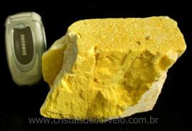 Micro Cristais e Mica Amarelo no Feldspato rara Formação de Coleção Cod 942.8