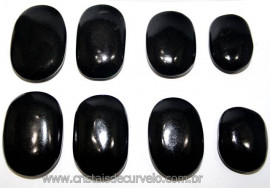20 Massageador Sabonete Pedra Quartzo Preto 6 a 8cm Terapeutica