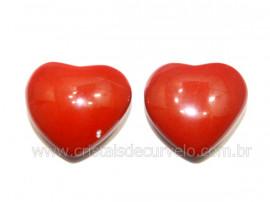 Par Coração Jaspe Vermelho Natural Pra Brinco Reff CB8944