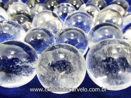 10 Mini Bola de Cristal Esfera Bem Limpa Pedra Extra e Pequena  ATACADO