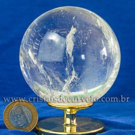 Bola de Cristal Pedra Extra Esfera Quartzo Transparente 112871