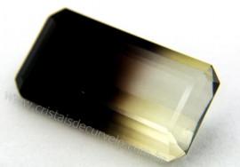 Gema Quartzo Bi Color Pedra Natural Montagem Joia Cod QB2443