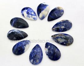 10 Gota pra Pingente Pedra Sodalita Azul Lapidado Calibrado 27 x 16 MM