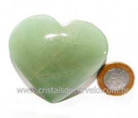Coração Quartzo Verde Natural Comum Qualidade Cod 119837