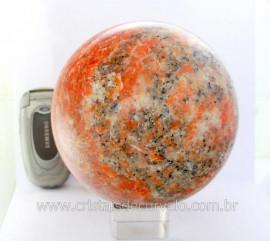 Esfera Calcita Laranja Bola Grande Rocha Mineral Pedra Laranja Cod 2.829