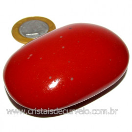 Sabonete Massageador Jaspe Vermelho Pedra Natural Cod 114292