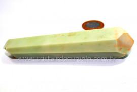 Bi Terminado Pirofilita Verde Natural de Garimpo Cod BP4269