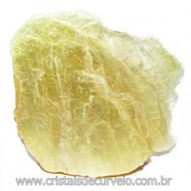 Chapa de Mica Amarela Bruta Natural de Garimpo Cod 115589