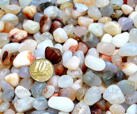 Agata Cornalina Natural T Médio Pacotinho 200Gr Pedra Natural Comum Qualidade