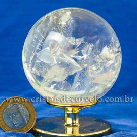 Bola de Cristal Pedra Extra Esfera Quartzo Transparente 112867