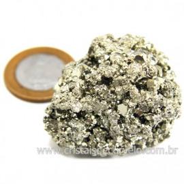 Pirita Peruana Pedra Extra Com Belos Cubo Mineral Cod 124219