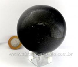 Esfera Pedra Quartzo Preto ou Quartzito Cristal Negro Intenso Cod 668.9