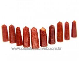 10 Pontinha Gerador Quartzo Vermelho Tamanho 2.5 Cm Reff 110616