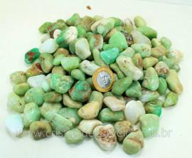 CRISOPRASIO Rolada Medio Pacote Com 1kg Pedra Natural