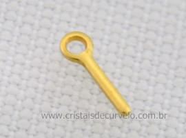 100 Pino Dourado Para Montagem de Pingentes Furados ATACADO