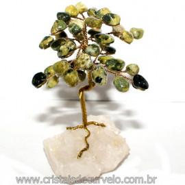 Arvore Da Felicidade Pedra Jadeita na Drusa Reff 118753