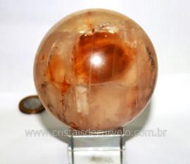 Esfera Hematoide Amarelo Pedra Natural Bola de Cristal Amarelo Cod 886.7