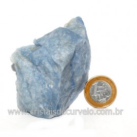 Quartzo Azul ou Aventurina Azul Bruto Natural Cod 123191