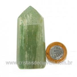 Ponta Pedra Onix Verde Lapidação Gerador Sextavado Cod 128691