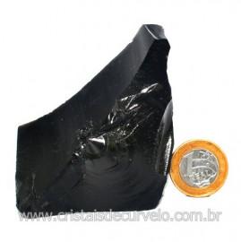 Obsidiana Negra Mineral Vulcanico Pedra Natural Cod 123969