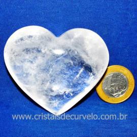 Coração Cristal Comum Qualidade Natural Garimpo Cod 117456