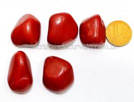 05 Jaspe Vermelho Rolado Pedra Natural de Garimpo Esoterismo Colecionador Reff 41.7