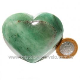 Coração Quartzo Verde Natural Comum Qualidade Cod 119832