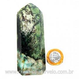 Ponta Malaquita Incrustado na Matriz Pedra do Sucesso Cod 127744
