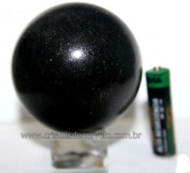 Esfera Pedra Quartzo Preto ou Quartzito Natural Cod BP8203