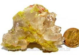 Mica Drusa Amarela Feldspato Pedra Bruta Natural Cod MA5815