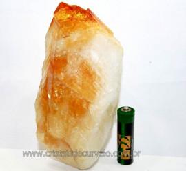Citrino Terminado Pedra Bombardeado Mineral Bruto Cod CT4916