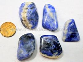 05 Sodalita Azul Pedra Rolado Unidade Boa Qualidade Ideal Montagem de Artesanato  Ref 52.4