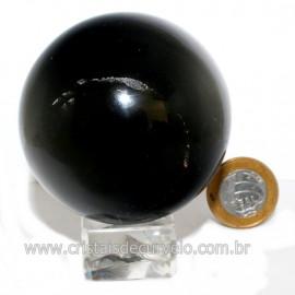 Esfera Obsidiana Negra Pedra Lava Vulcanica Natural 126124