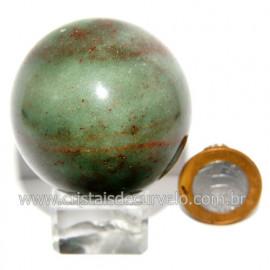 Esfera Quartzo Verde Pedra Natural Bola Lapidado Cod 118799