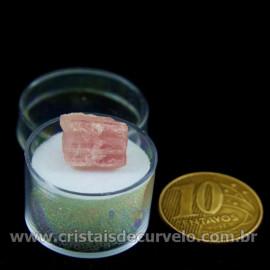 Turmalina Rosa Bruta Pedra Natural No Estojo Cod 126942