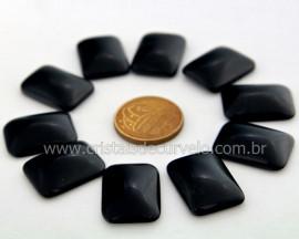 10 Retangulo Cabochao pra Pingente Pedra Obsidiana Negra Lapidado Calibrado 15 x 20 MM
