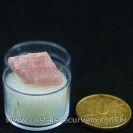 Turmalina Rosa Bruta Pedra Natural No Estojo Cod 126956