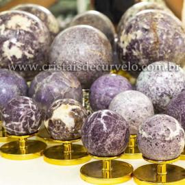 1 Kg Esfera Bola Pedra Lepidolita Mica Natural ATACADO 120831