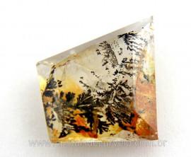 Dendrita Gema Facetado Montagem Joias Pedra Natural GD4262
