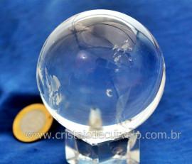 Esfera Bola de Cristal Pedra Quartzo Extra Transparente Tamanho M Cod 357.8