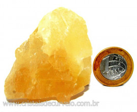 Calcita Mel Pedra Natural P/ Coleção e Esoterismo Cod 110305