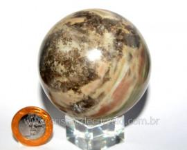 Esfera Pedra Dolomita Cinza Bola Mineral Natural Cod ED8306