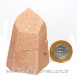 Ponta Amazonita Rosa Pedra Da Família Feldspato Cod 121428
